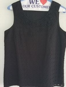Talbots black sleeveless top size 10P